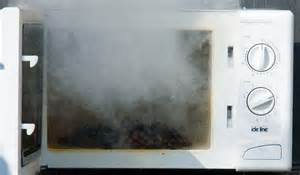 Smoking-microwave-oven